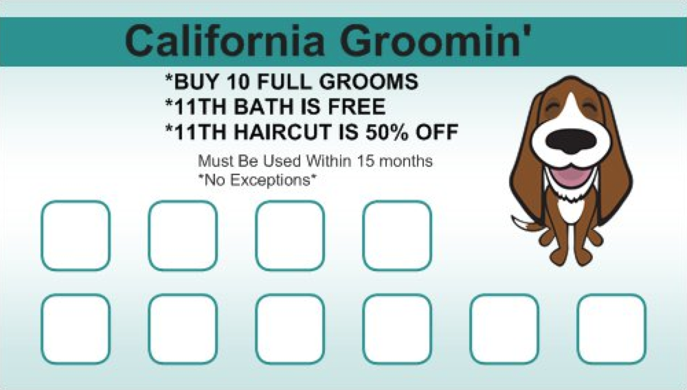 Culver City Dog Groomer Rewards Card